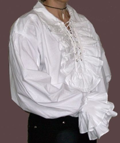 d8ff9f4199f574 NEW-Gothic-18th-Century-White-Cotton-Frilly-Ruffled-Shirt-S ...