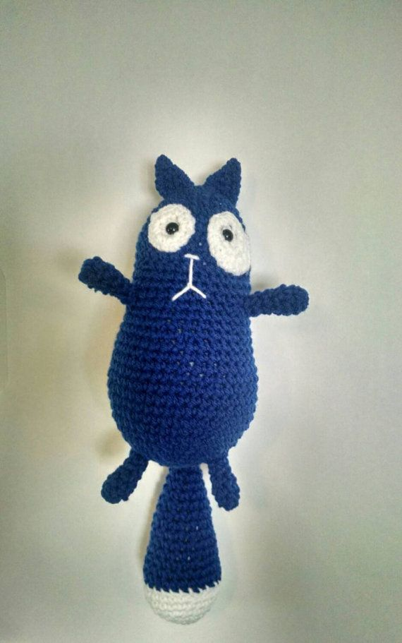 Cat stuffed toy inspired by peg plus cat crochet by TrueBlueStark
