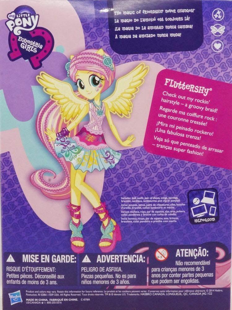 Fluttershy Rainbow Rocks Rockin Hair Equestria Girls Doll My - Rockin hairstyles dolls