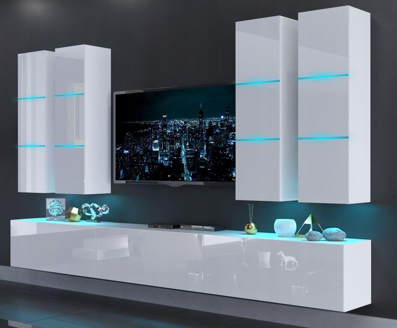 Mebloscianka Zestaw Meble Scianka Salon Rtv N40 Modern Tv Units Furniture Decor Inspiration