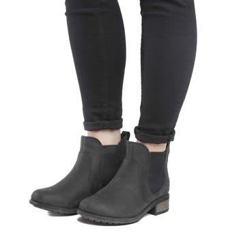 Womens Black Black Boots Schuh Highlight Stretch