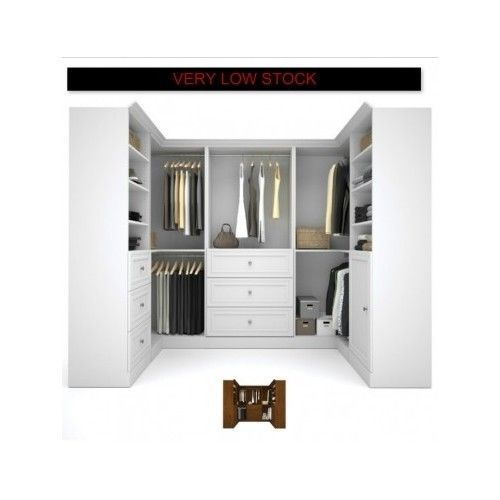 Walk-In-Closet-Organizer-Armoire-Shelves-Bedroom-Wood-Wardrobe-System-White-Home