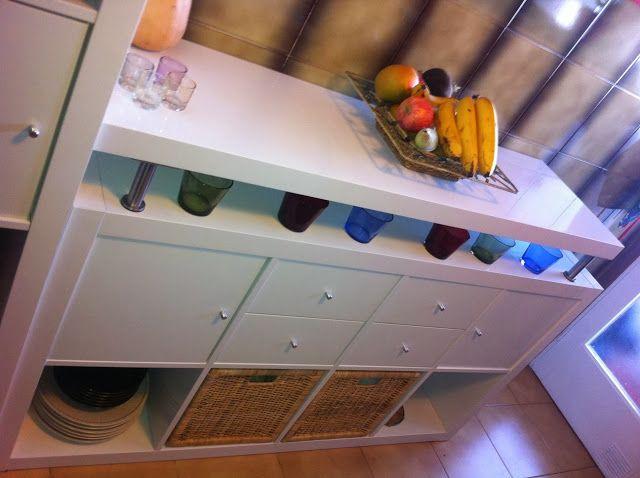 Cocina auxiliar con #EXPEDIT de #Ikea // #Expedit Regal mit #Konsole ...