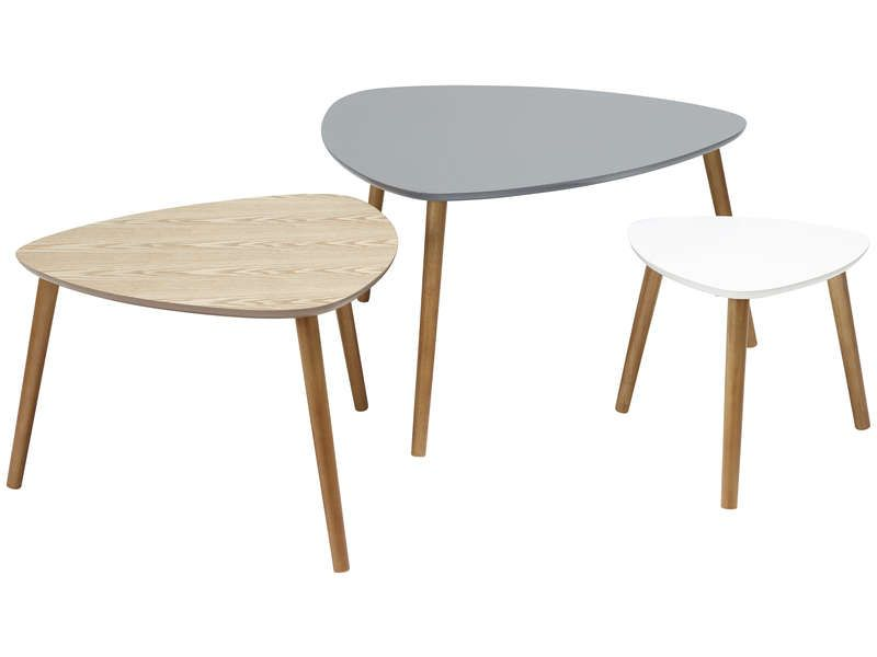 Lot De 3 Tables Gigognes Agnes Vente De Table Basse Conforama Tables Gigognes Table Basse Conforama Table Basse