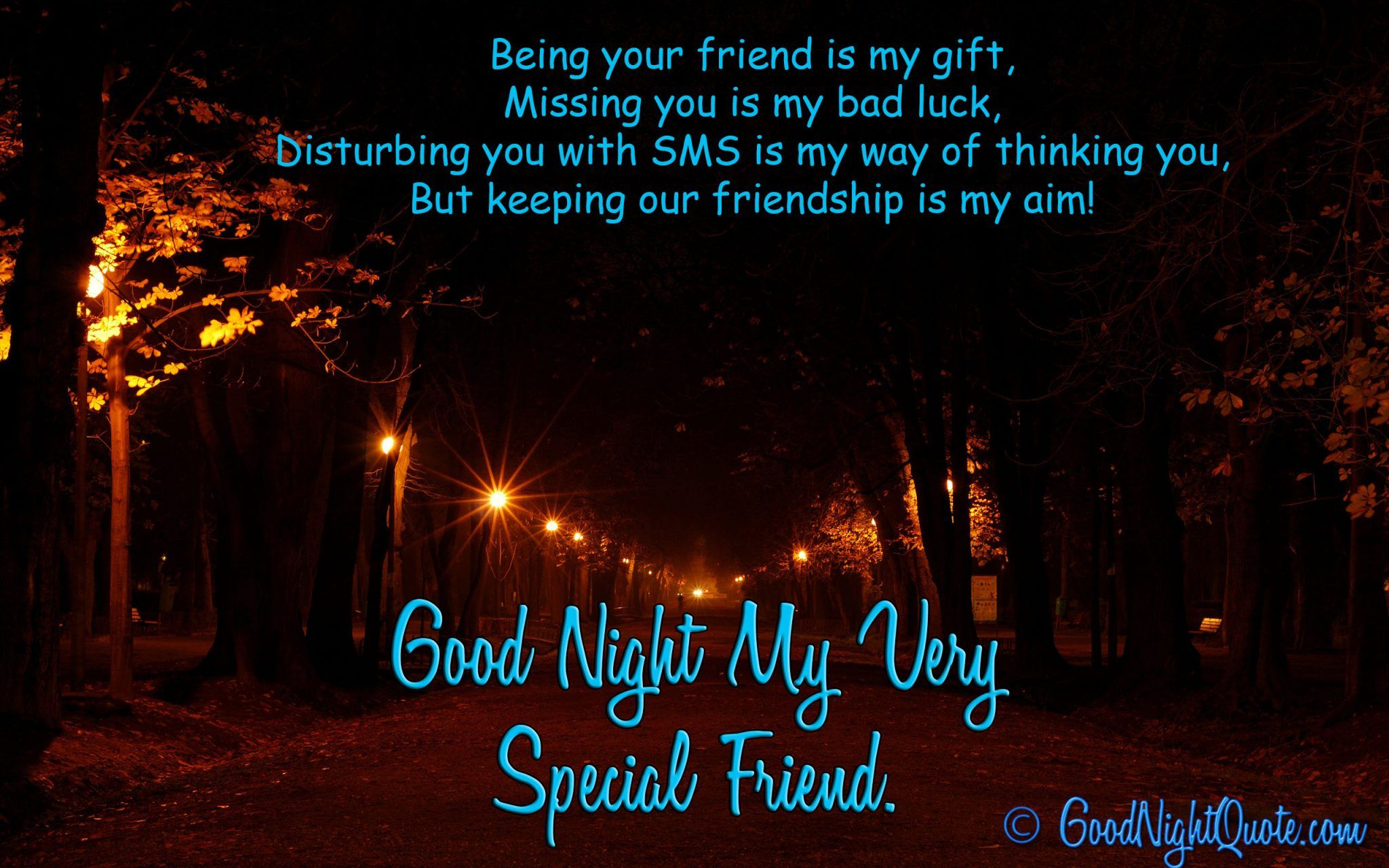 Wonderful Quote On Friendship For Special Friends Good Night Messages Good Night Quotes Images Good Night Friends Images