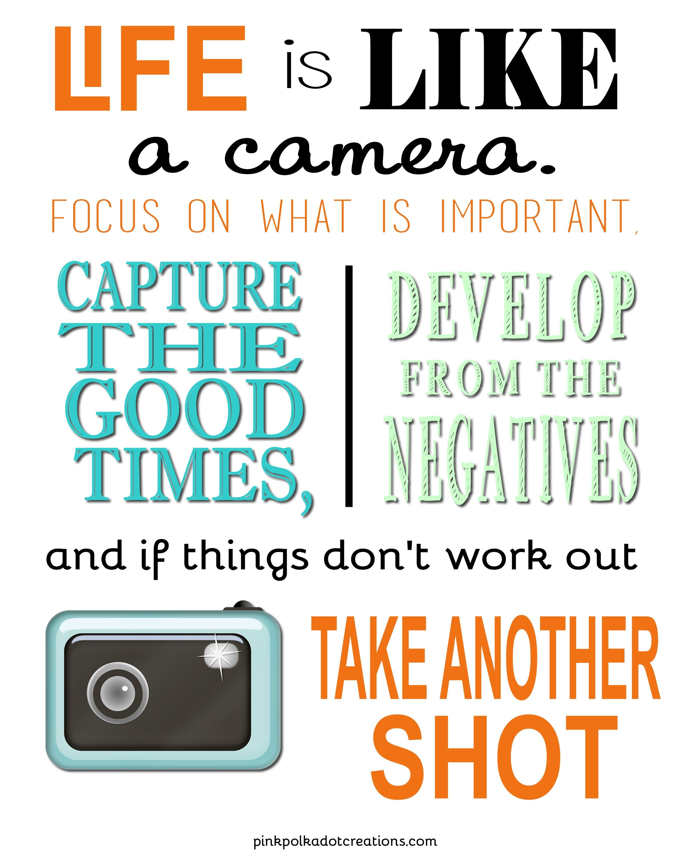 Life Quotable Quotes Life Is Like A Camera Quote  Quote Addicts  Capture  Pinterest