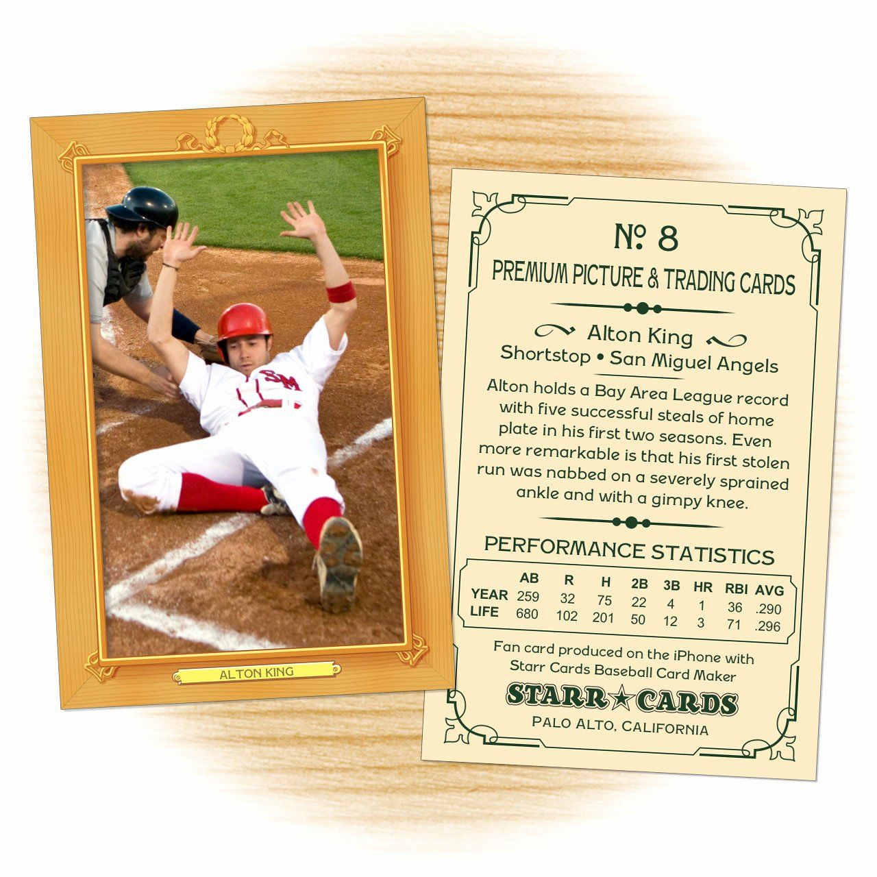 Baseball Card Template Free Luxury Custom Baseball Cards Vintage 11 Series Starr Cards Baseball Card Template Card Template Card Templates Free