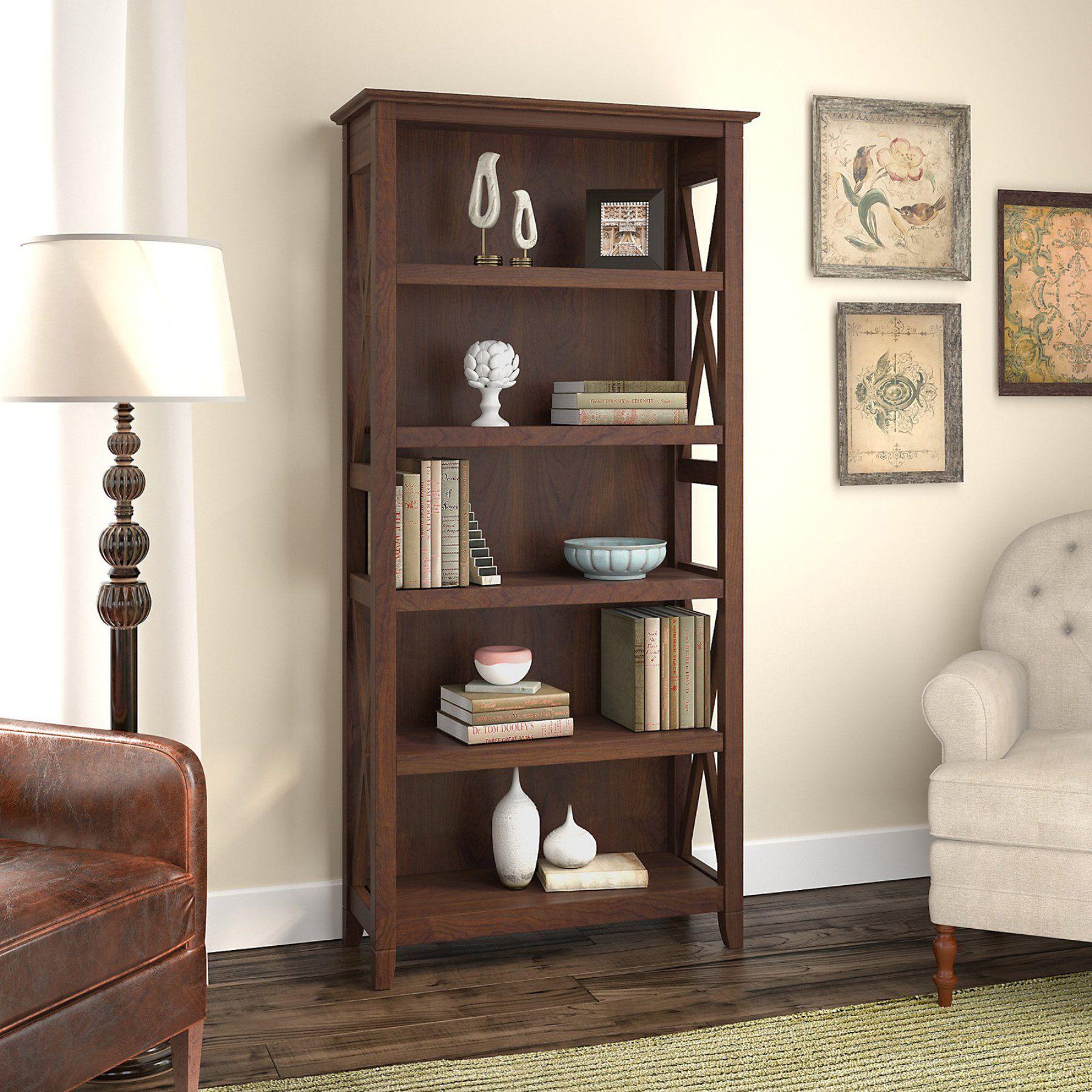 Bush Furniture Key West 5 Shelf Bookcase  Kwb132Bc 03