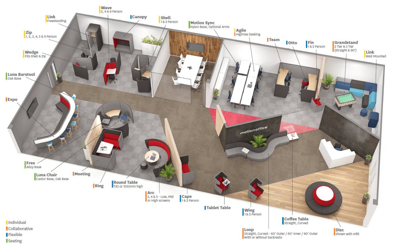 Attach Office To Back Space Of Lounge In V Large Open Plan Open Office Layout Office Space Planning Office Layout Plan