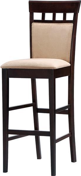 2 Coaster Furniture Tan Fabric 29 Inch Bar Stools Wood Bar Stools Bar Stools Home Bar Furniture 29 inch bar stools