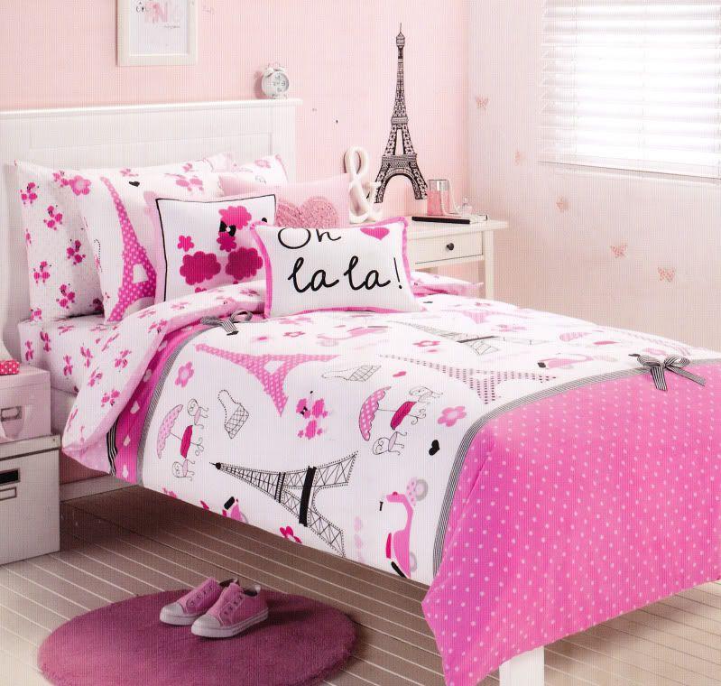 Pink Paris Bedding Details About Pink Paris Eiffel Tower
