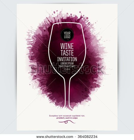 Design Template List Wine Tasting Or Invitation Illustration