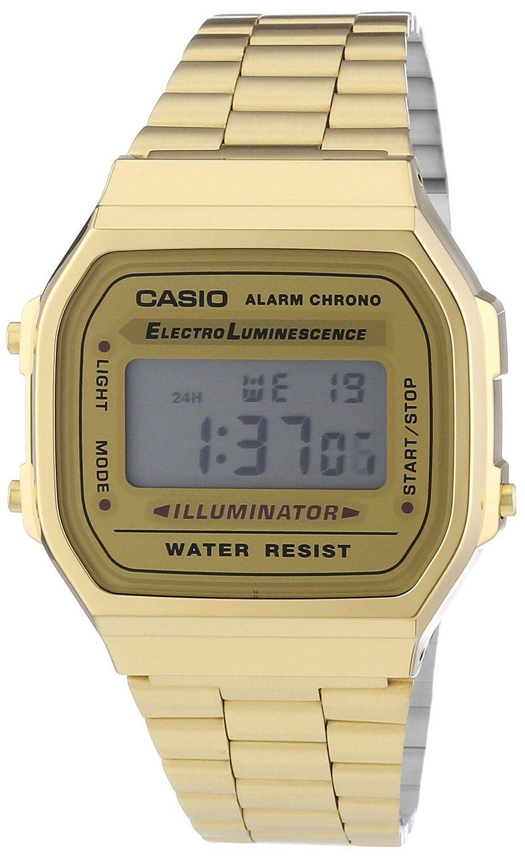 Casio Unisex Quartz Watch with Digital Display and Stainless Steel Bracelet 2b924fe493ea