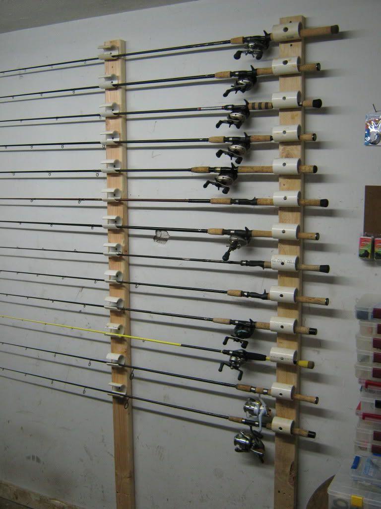 Ceiling mounted rod holder diy fishing rod fishing rod