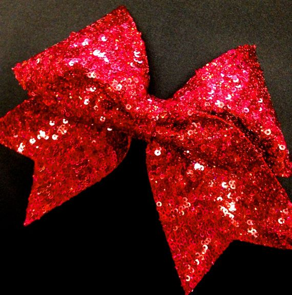 81b88c2473 Red Sequin Cheer Bow for Cheerleading by Bowfriendz on Etsy