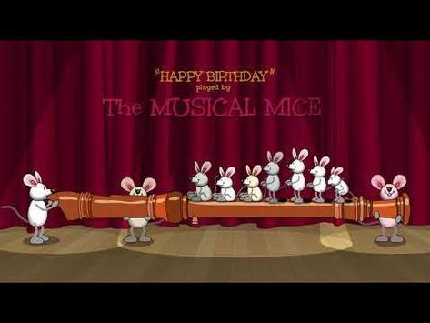 Happy Birthday played by The Musical Mice - on the recorder #katzengeburtstag
