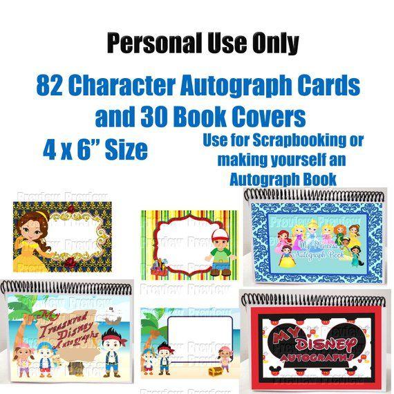 character autograph cards diy disney autograph book disney