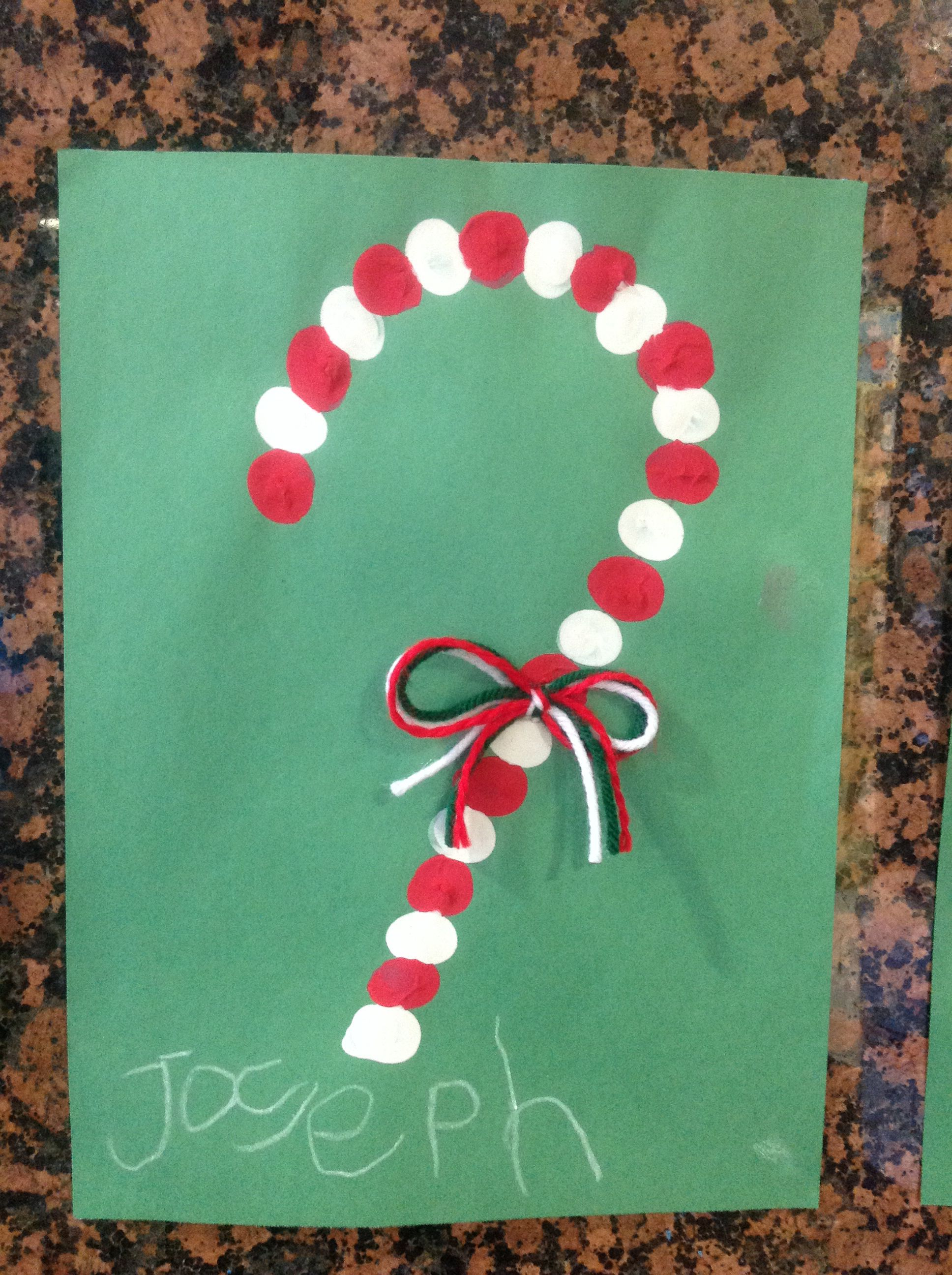 Pre K Christmas Craft.Simple Christmas Craft For Pre K Paint Yarn And Thumbs