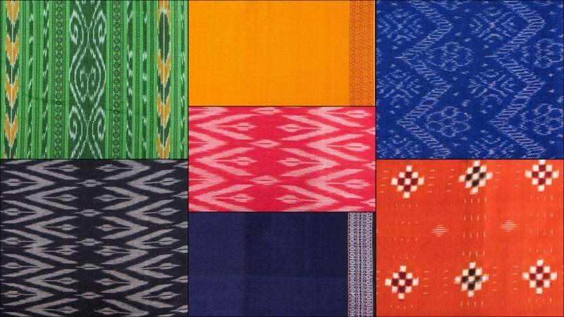 Handloom Sambalpuri Ikat Cotton Fabrics Form Odisha Ikat Fabric Fabric Ikat Print