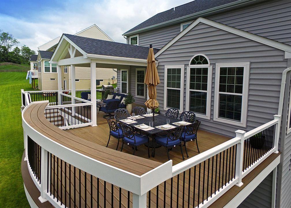 Timbertech Pecan Composite Decks Avondale Pa Building A Deck Patio Deck Designs Decks And Porches