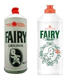 Fairy Washing Up Liquid.  Blue Peter had a vested interest in this product.  How ever would we have made our rockets or pen holders.