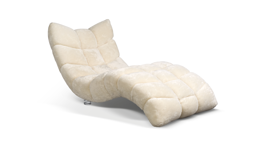 Cloud 7 Chaise Lounge/ Day Bed. Mohair Upholstery. [Bretz