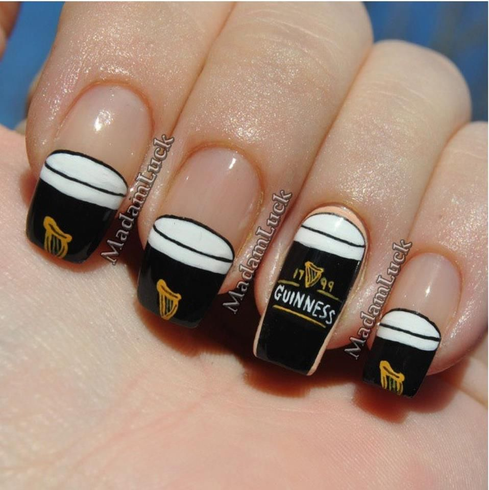 guinness #nail #nails #nailart