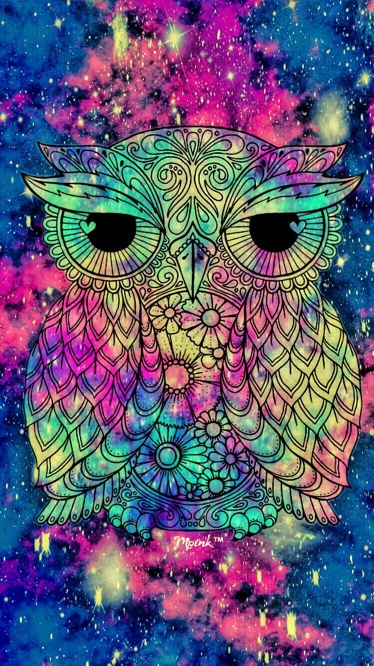 Grunge Owl Galaxy iPhone/Android Wallpaper I Created For