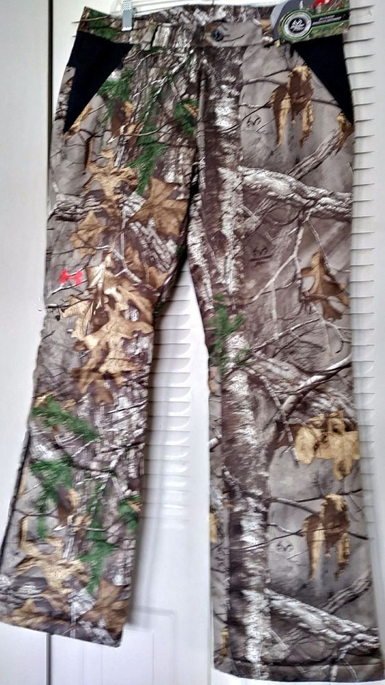 9b8afc274e027 Under Armour Women's Storm 2 Realtree Camo Pants SZ: 8 Loose Fit Waterproof  New #Realtree