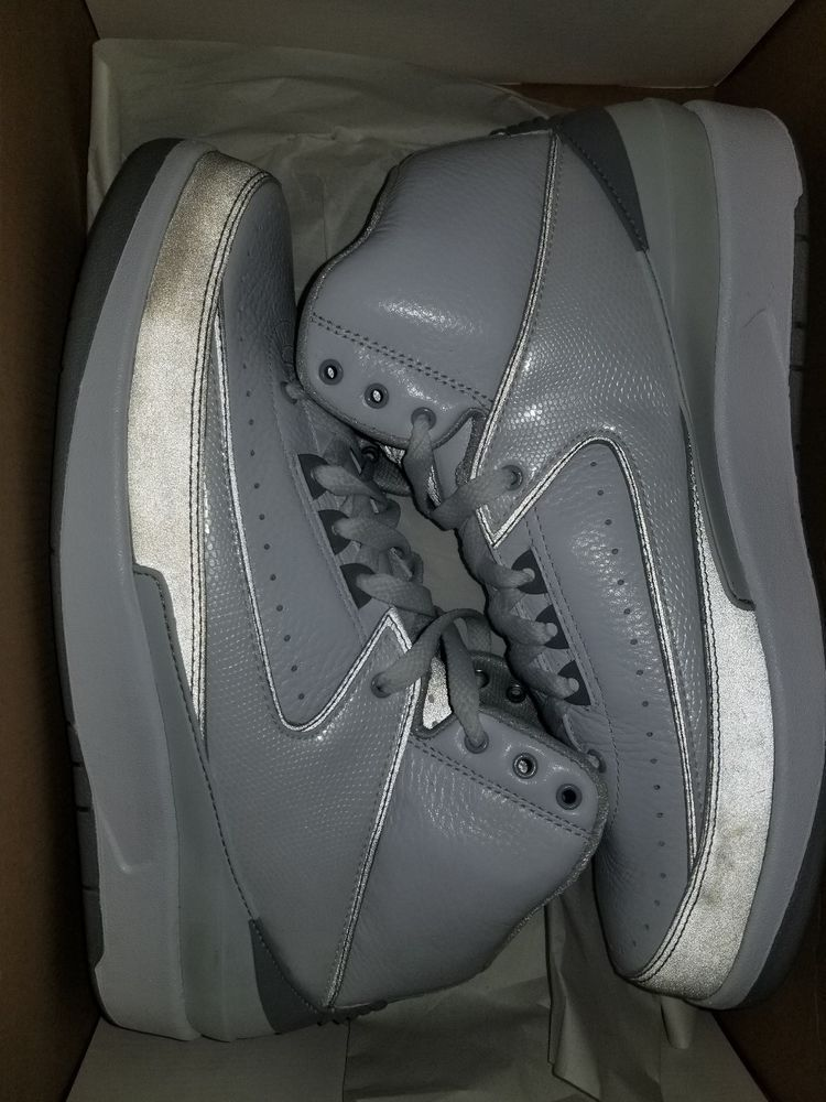 sports shoes a03cc a024c Nike Air Jordan II 2 Retro SILVER ANNIVERSARY 3M COOL GREY 385475-101 Size  10