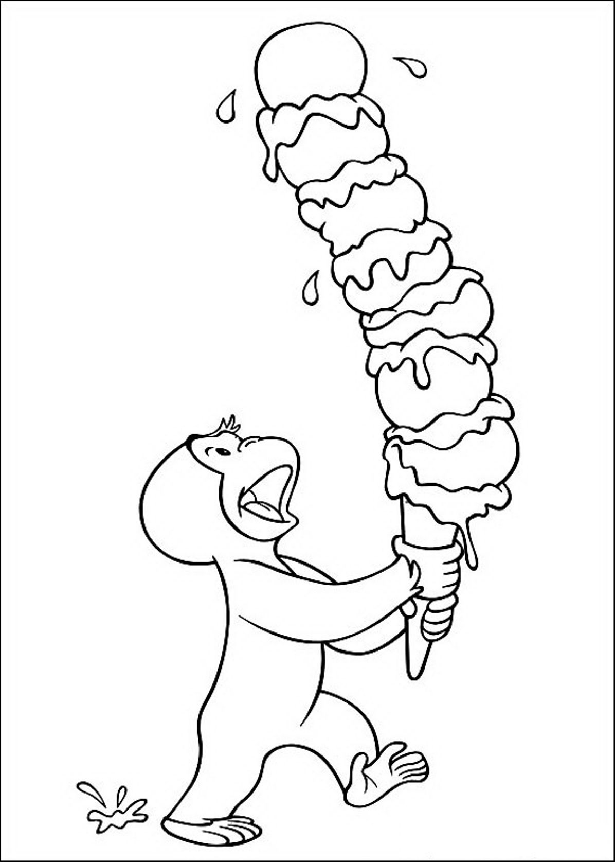 Degree Curious George Coloring Pages To Download And Print For Free ...