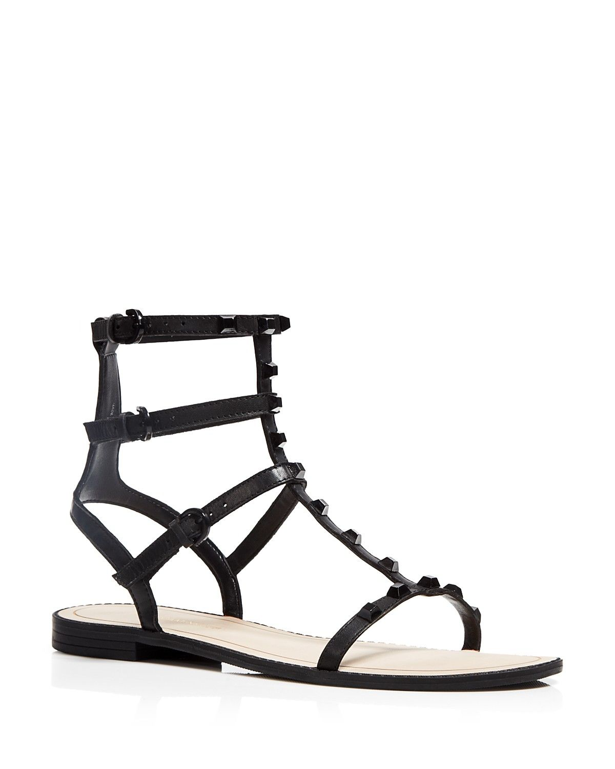 e8396991744f Rebecca Minkoff Flat Gladiator Sandals - Georgina Studded ...
