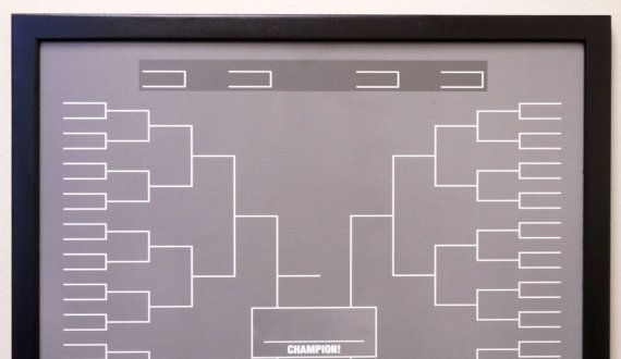 Sports Bracket Large Dry Erase Board