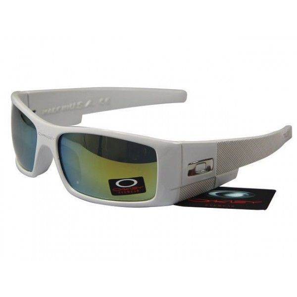 oakley gascan sunglasses cheap  $15.99 cheap oakley gascan sunglasses yellow blue iridium white frames online deal racal