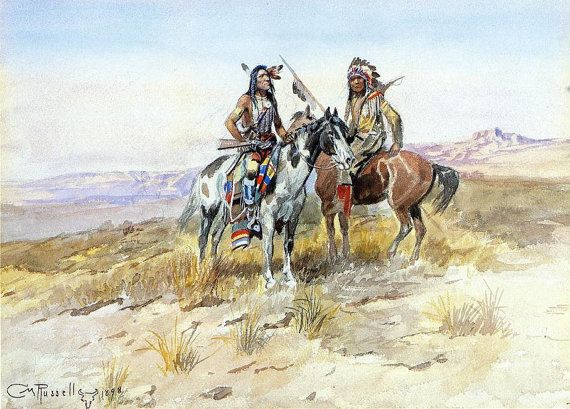 American-Indians-Giclee Prints Indians on prowl, Buffalo hunters, Indian women, hunting buffalo, Indians on plains --Free Shipping USA by SILVESTROMEDIA on Etsy, $19.99