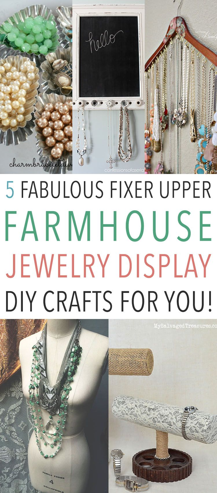 5 Fabulous Fixer-Upper Farmhouse Jewelry Display DIY Crafts for You! - The Cottage Market