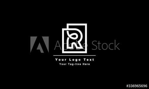 تصميم شعار حرف R مجردة قالب تصميم شعار مميز ومبتكر رمز الأبجدية الرسومية للشركات هوية العمل عنصر متجه Rr الأولي ا Business Identity Logo Design Lettering