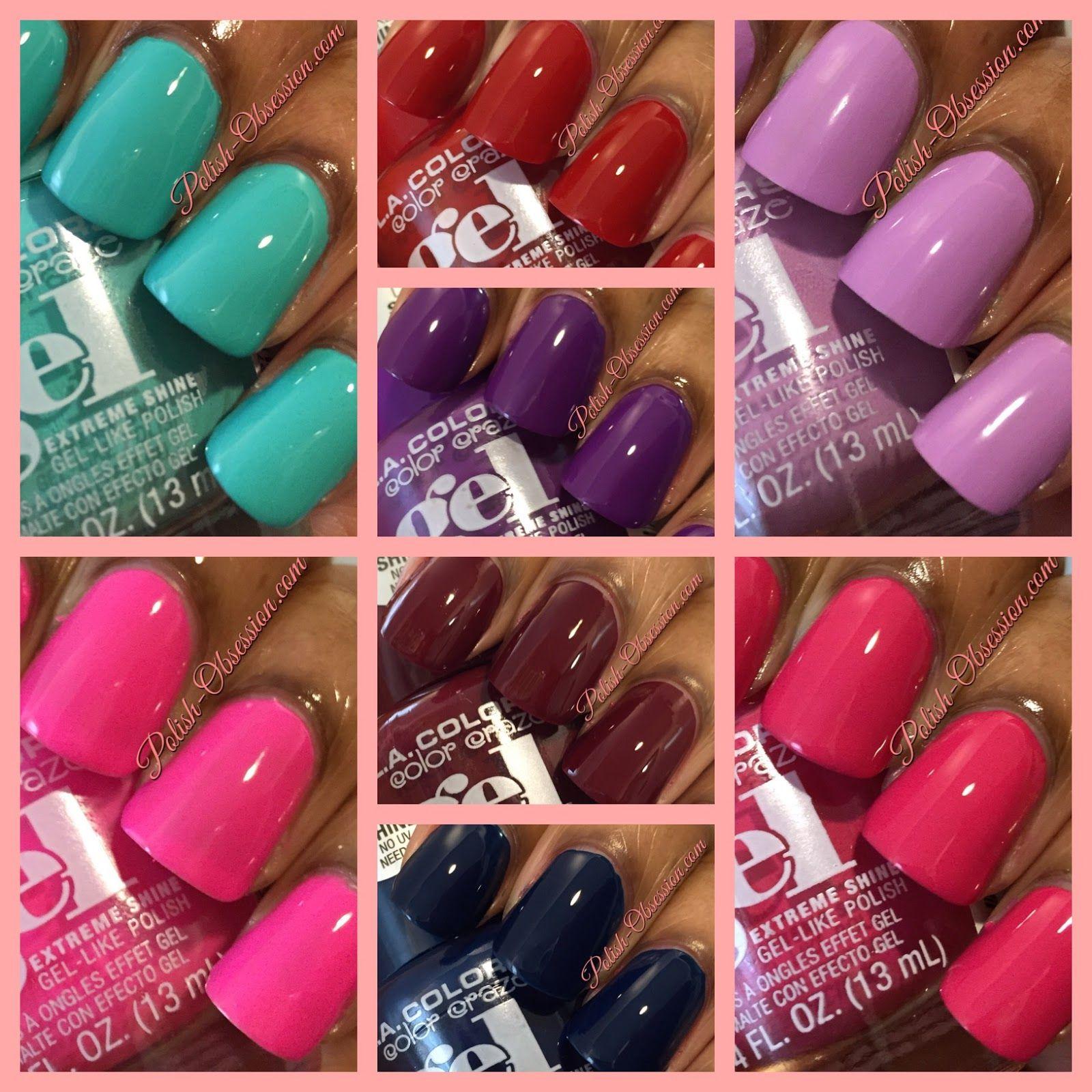 L A Colors Color Craze Gel Like Polish Nail Polish Gel Nail Polish April Nails