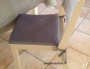 Housse amovible pour galette de chaise home sweet home pinterest couture tricot and amigurumi - Galette de chaise avec rabat ...