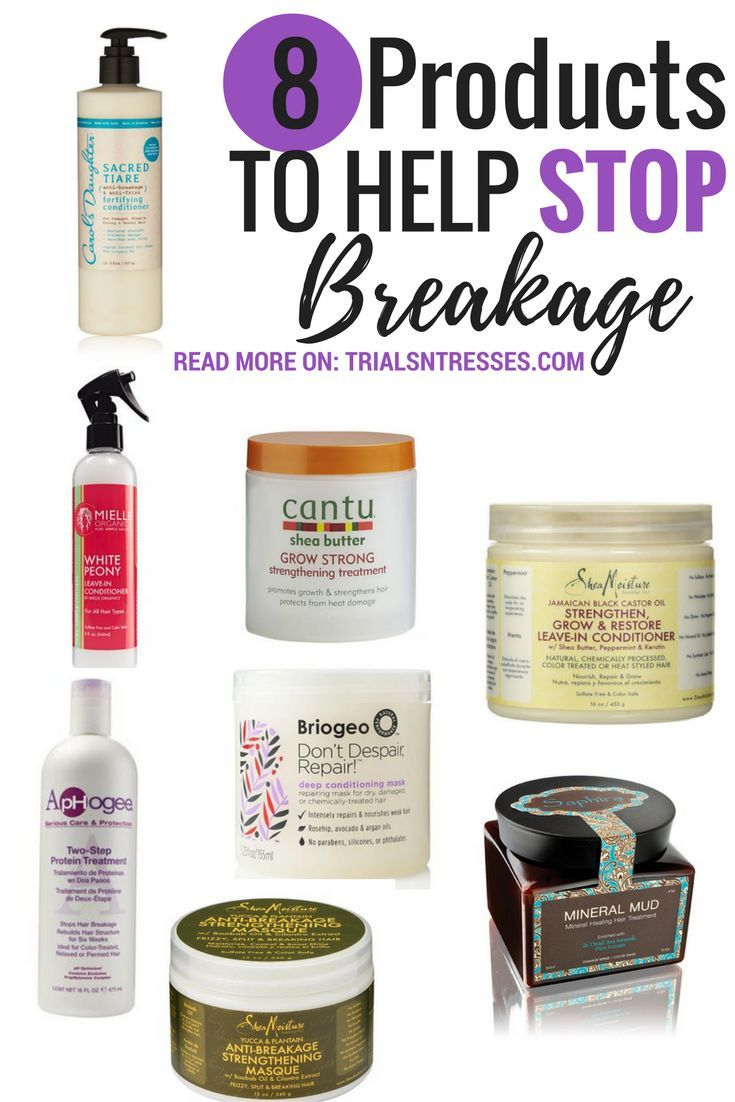 8 Products To Help Stop Breakage Hairstyles Natural Hair Styles Hair Treatment Relaxed Hair Care
