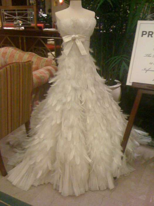 Feather Wedding Dress By Thelma