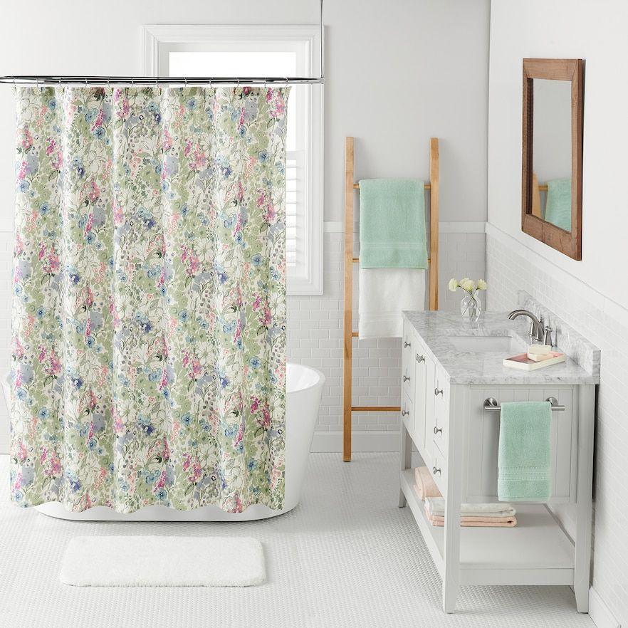 Lc Lauren Conrad Wildflower Shower Curtain From Kohl S Shower