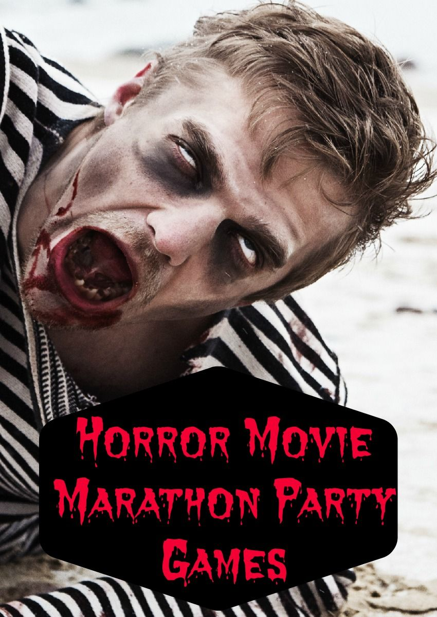 Horror Movie Marathon Teen Party Games | Movie marathon and Party ...