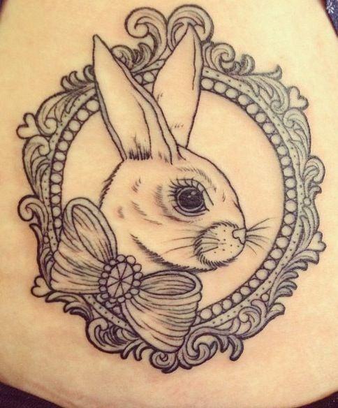 Tatuagem De Coelho E Moldura Tatuagens De Coelho Tatuagem Alice