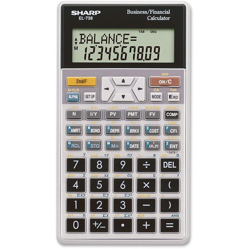 Sharp El 738c Financial Calculator Online Mortgage Calculator