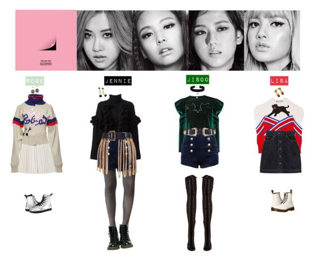 BLACK PINK - WHISTLEu2661ufe0f by vvvan99 on Polyvore featuring polyvore fashion style Marc Jacobs 3.1 ...