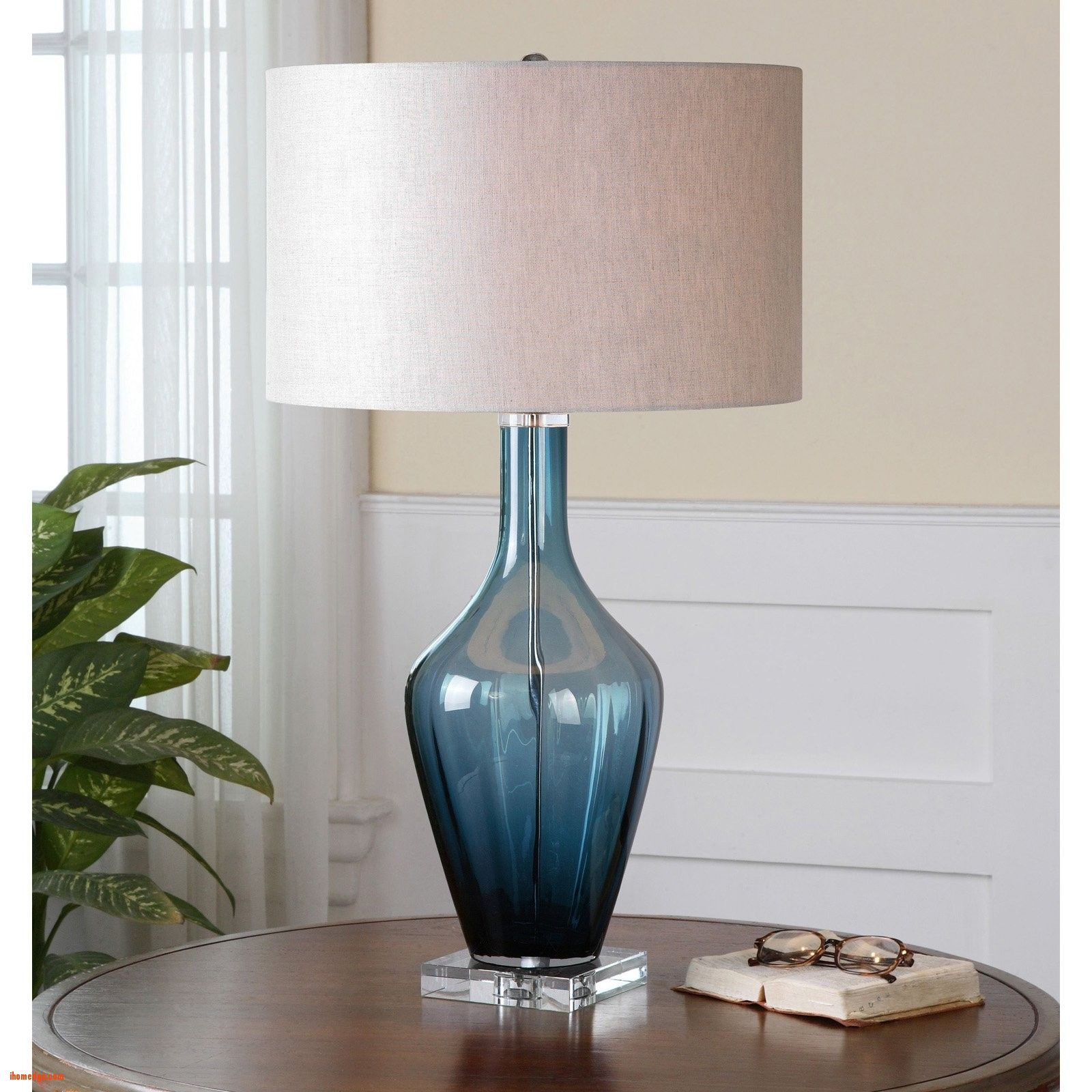 Nice Unique Gl Table Lamps Uttermost Hagano 1 Blue