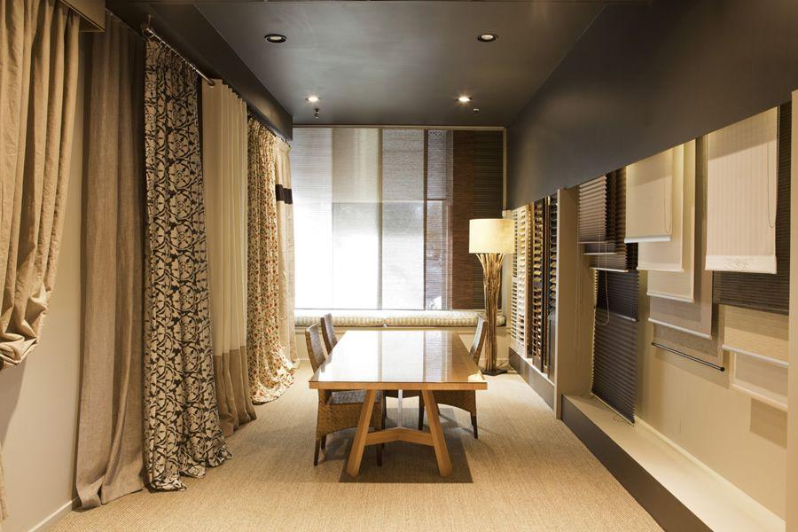 showroom design curtains interior design