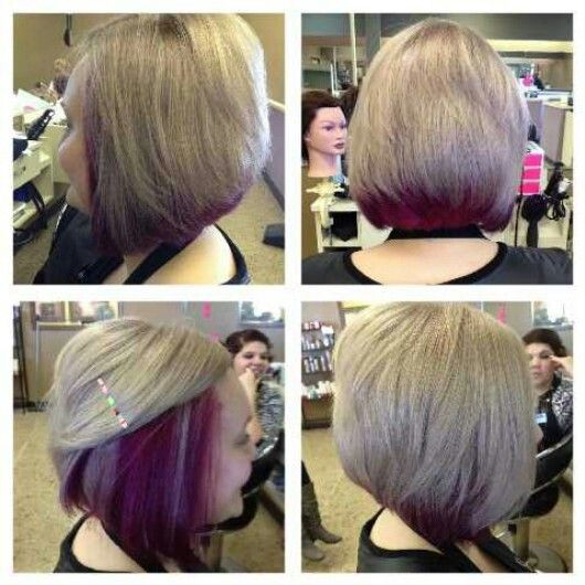 cool hair style for hair purple underneath hair blondehair purple 4534