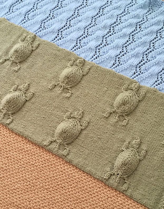 Knitting Pattern for Turtle\'s Journey Blanket - This baby blanket by ...